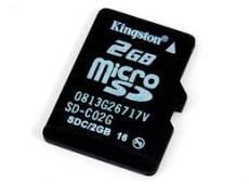 THẺ NHỚ KINGTON MICRO SD 2GB BẢO HÀNH 1NĂM  ĐẶT HÀNG